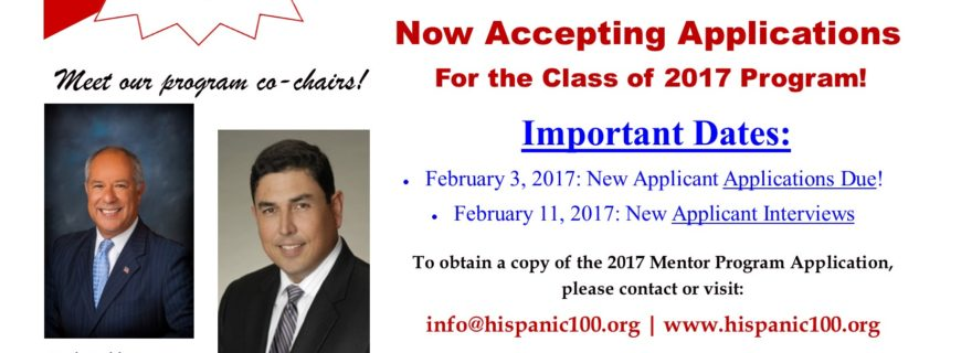 H100 Mentor Program Accepting Applications Class of 2017