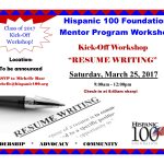 H100 Mentor Program Workshop 3.25.17